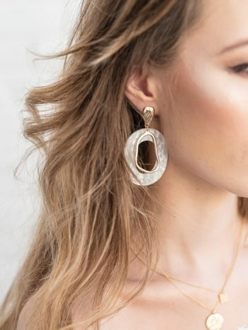 Textured Hoop Pearl Earrings KAJO Jewels