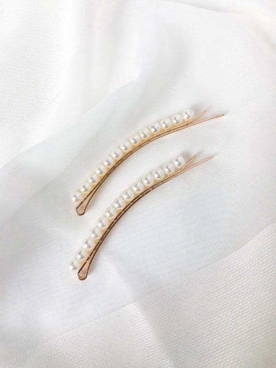 LEO 2 KAJO Jewels Hair Accessories Pearl Clips 2019-59