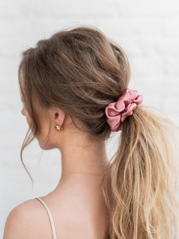 Pink Satin Scrunchie KAJO Jewels