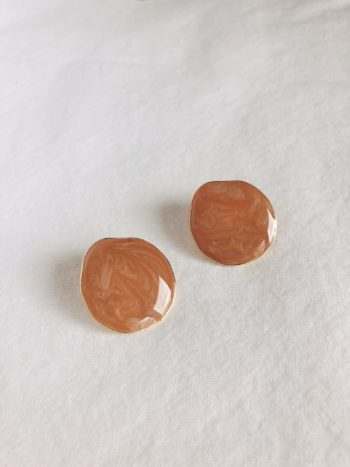 KAJO Lily Round Earrings Brown 4