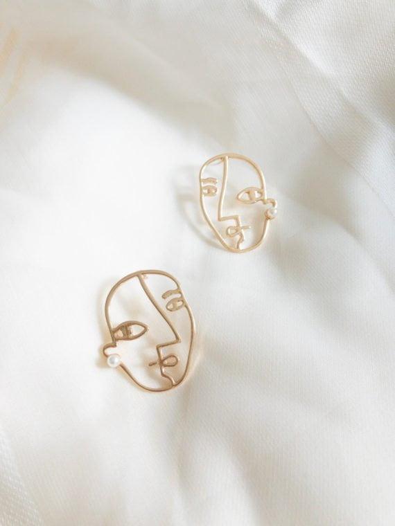 KAJO Pearl Face Earrings 4