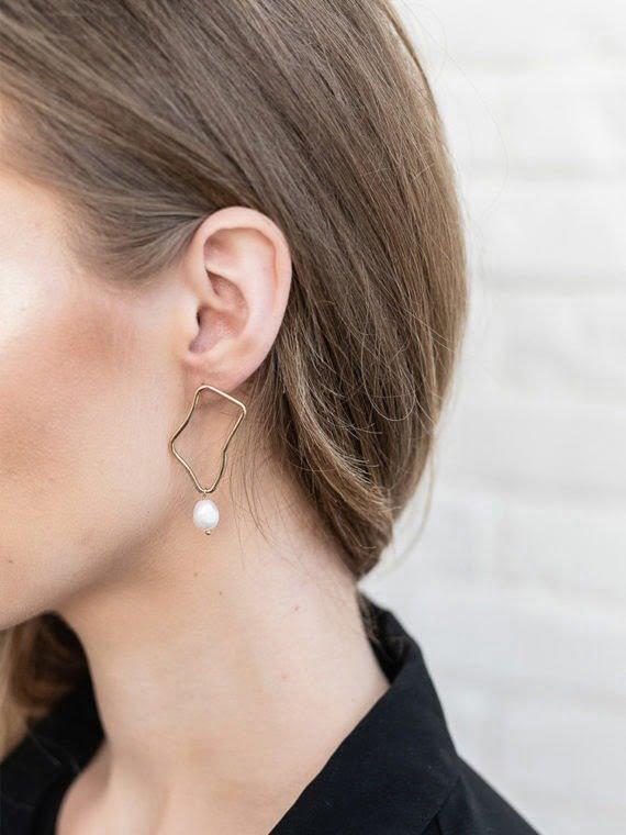 Pearl Wave Earrings KAJO Jewels