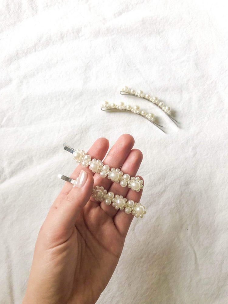 KAJO Jewels Hair Accessories Pearl Hair Clips Hair Pins Perłowe Spinki Spinki z Perłami