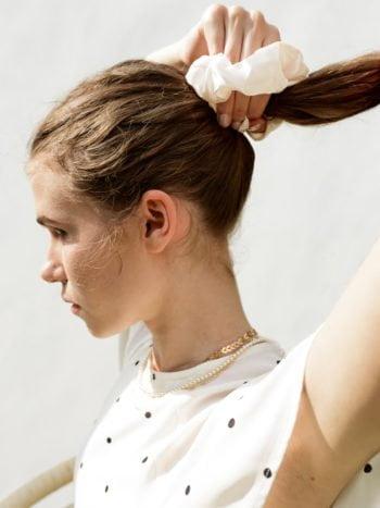 KAJO Jewels Chloe beige scrunchie