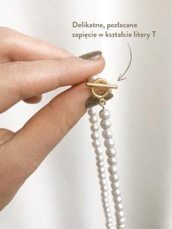 Perłowy Naszyjnik Coco KAJO Jewels Złote zapięcie