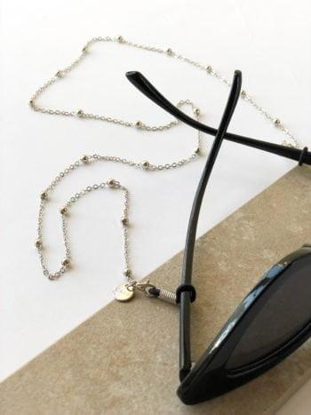 Łańcuszek do okularów Srebrny Classic KAJO 2