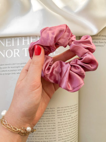 KAJO Jewels Scrunchie Pink Różowa Satin 4
