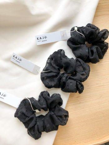 KAJO Jewels Soulmates Scrunchie Black 1