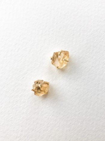KAJO Kolczyki Kryształy Cytryn