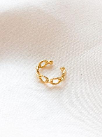 Pozłacana nausznica Chain KAJO Jewels 3