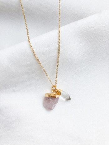KAJO Różowy Kwarc Naszyjnik Crystal 1